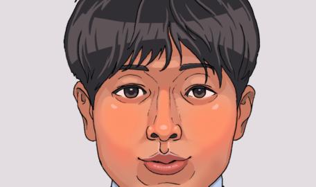 門田修先生似顔絵